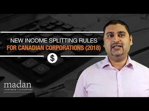 New Income Splitting Rules For Canadian Corporations (2018)