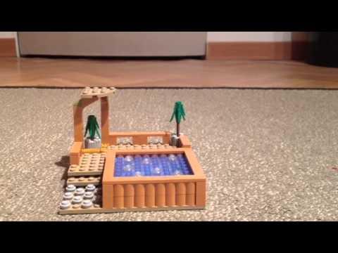 comment construire un jacuzzi en lego youtube. Black Bedroom Furniture Sets. Home Design Ideas