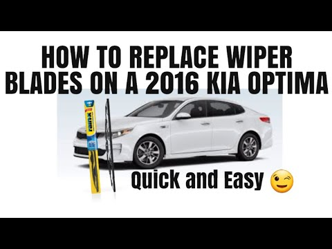 How to Replace Wiper Blades on a 2016 Kia Optima