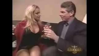Vince McMahon & Trish Stratus backstage