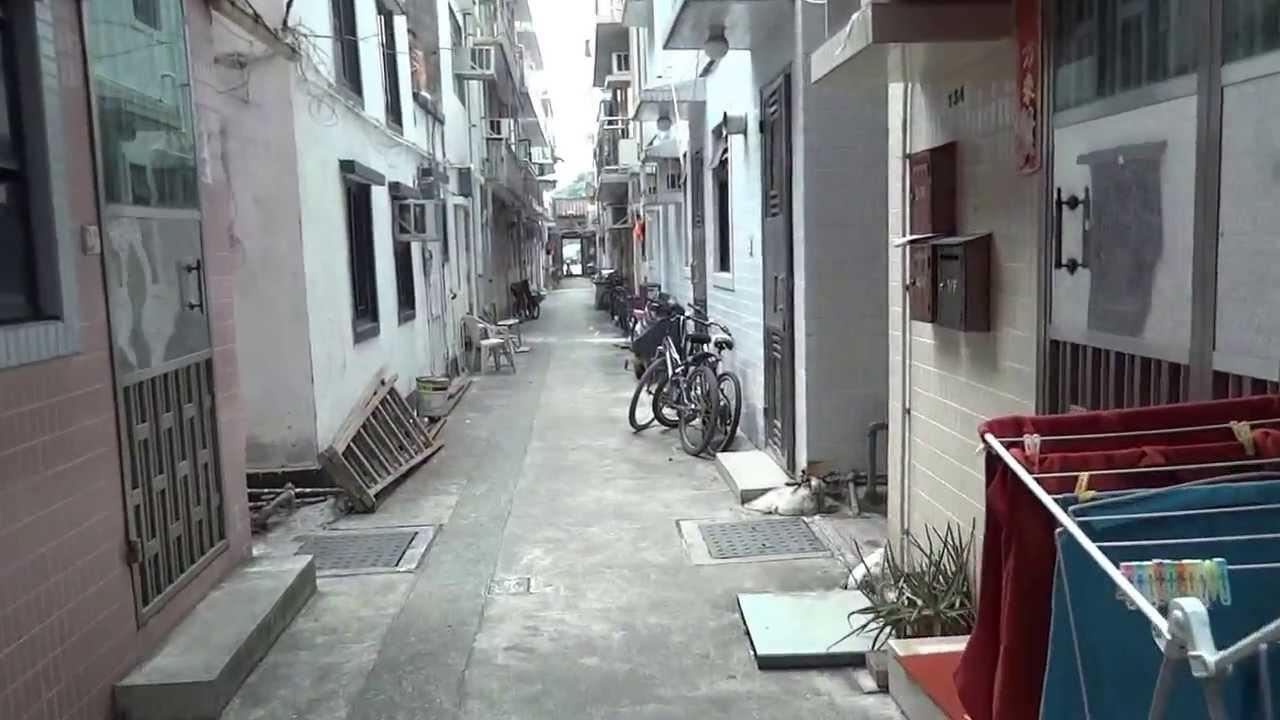 香港・錦田吉慶圍內部を歩いて散策 - YouTube