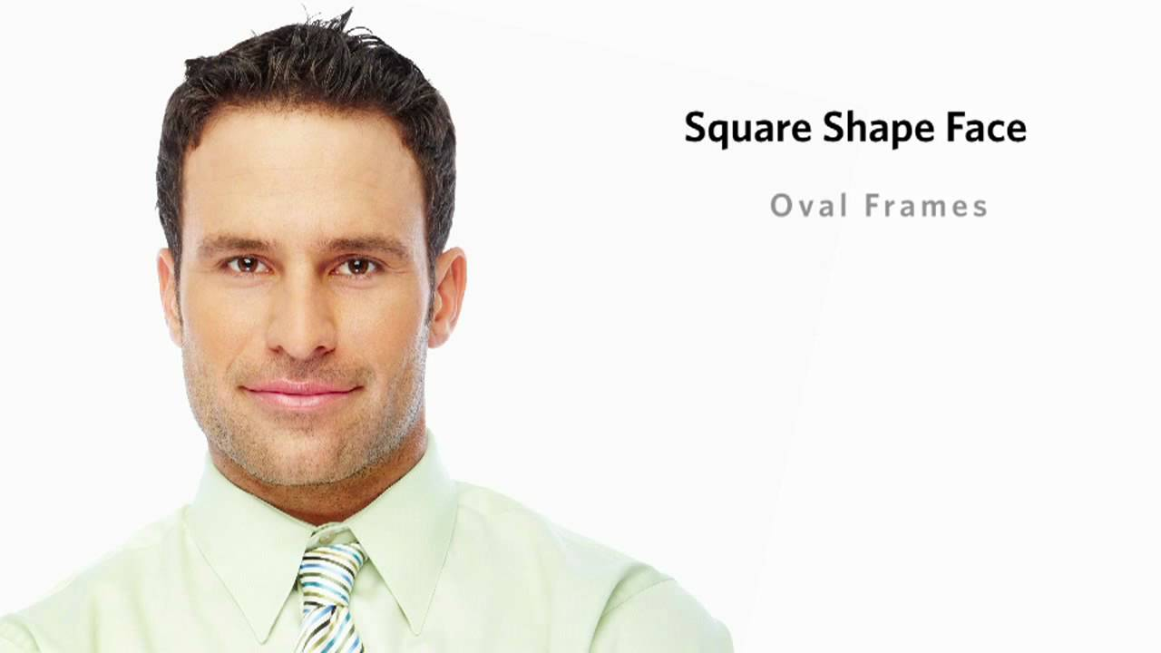 frames for a square face shape - male - youtube