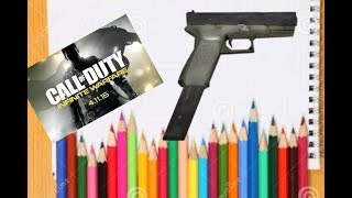 🕹HOW TO DRAW 🖍🖌✒️A G18 GUN FROM CALL OF DUTY WWII🕹✔️
