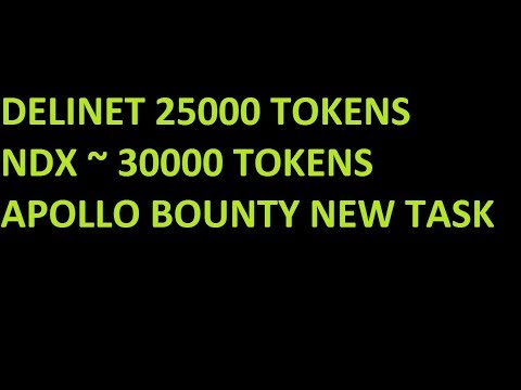 DELINET 25000 TOKENS || 30,000 NDX TOKEN FOR VOTE IN AOIDEX EXCHANGE