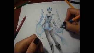 Drawing/Mortal Kombat/Frost/Рисуем Frost из Mortal Kombat