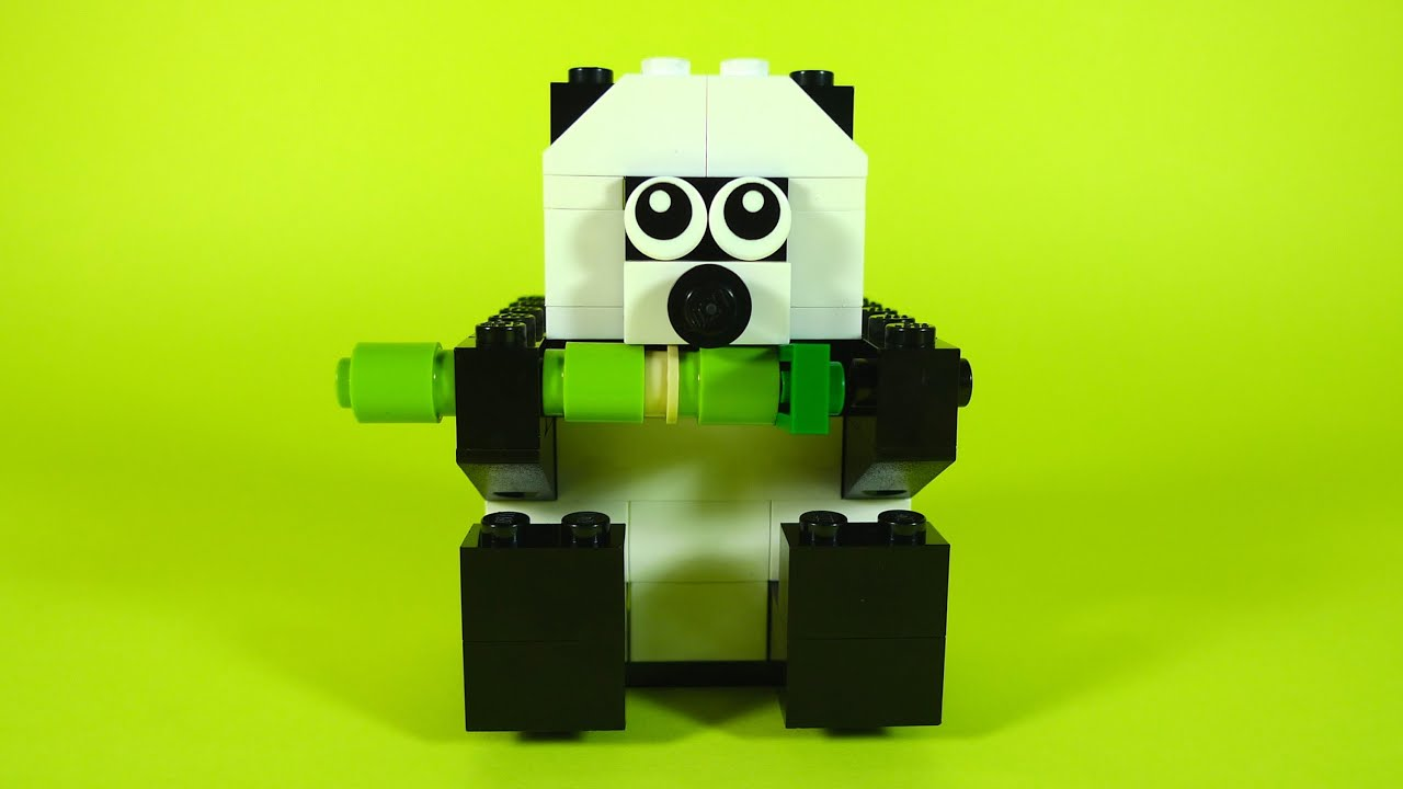 How To Build Lego PANDA  10681 LEGO Creative Building Cube Creations for Kids  YouTube