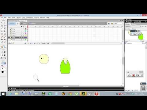 Animation สอนทำ Flash 8 การ์ตูน เคลื่อนไหว part1/2