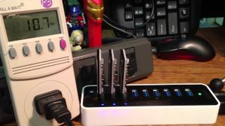 BITCOIN MINING - USB BLOCK ERUPTER POWER CONSUMPTION WHILE USING ANKER 9 PORT USB HUB