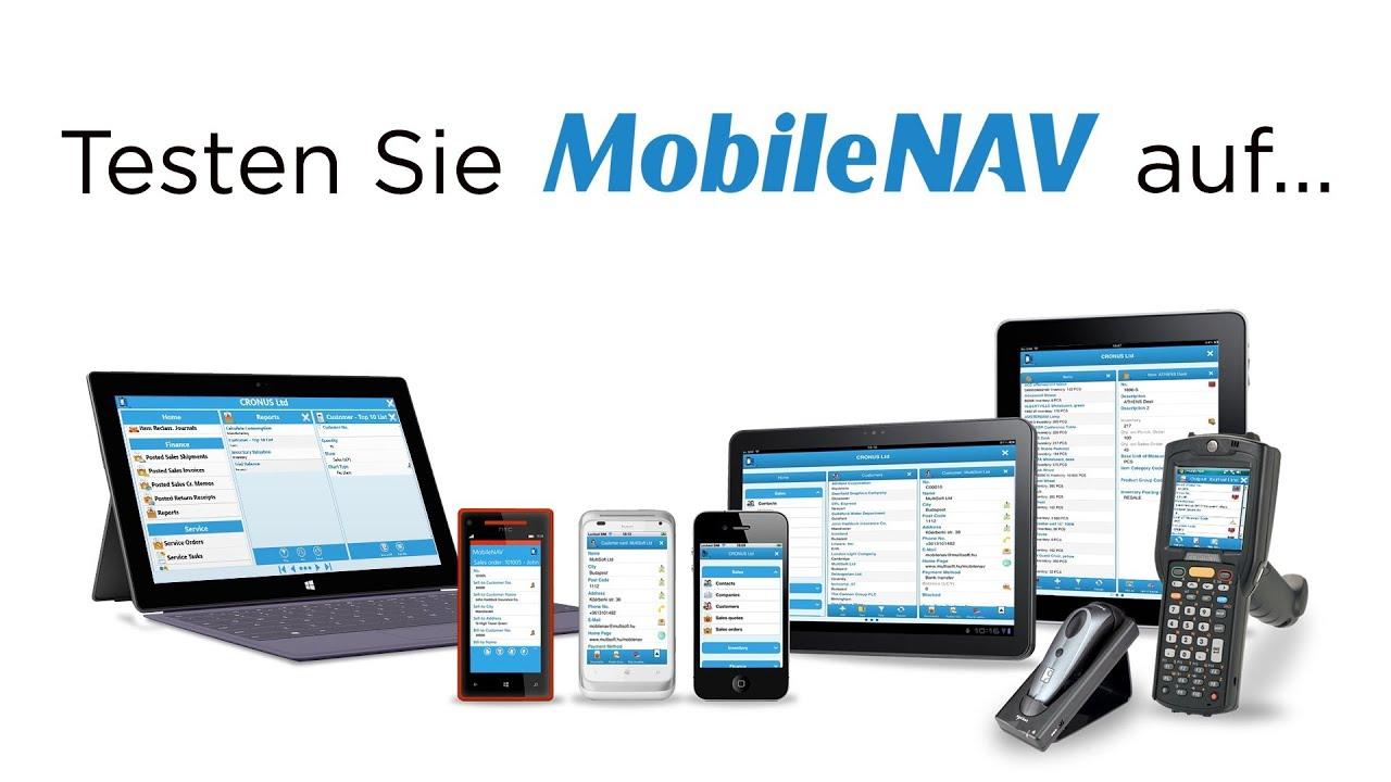 Microsoft Dynamics NAV auf mobilen Geräten - YouTube