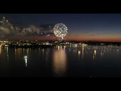 Fireworks Over Portland Harbor Maine 7/4/17