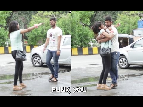 Girl giving a Hug Prank by Funk You