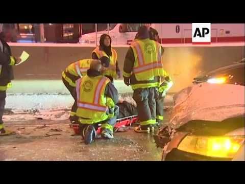 34 Cars in Double-Pileup in Chicago