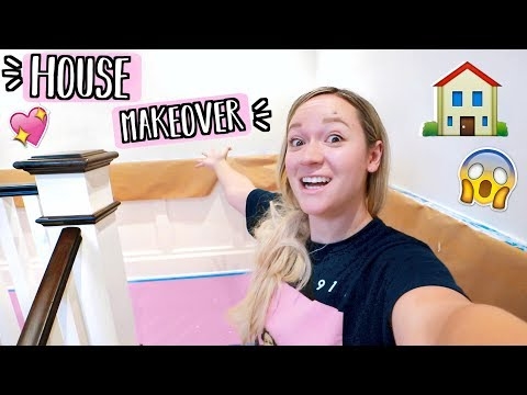 House Makeover Is Happening!! Painting my House Pink!! AlishaMarieVlogs