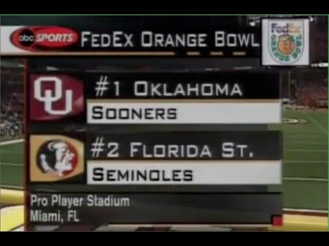 Oklahoma vs Florida State (2000 National Championship)