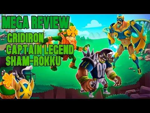 Monster Legends [MEGA REVIEW] - Gridiron, Captain Legend Y Sham-Rokku (Nivel 1 al 90) + Combate