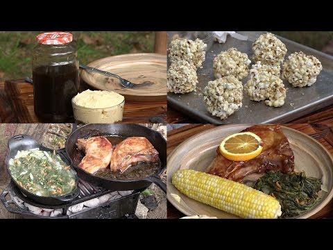 Making Sorghum, Sorghum Recipes: Pork Chops, Greens, Butter & Popcorn Balls (Episode #373)