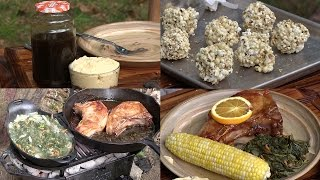 Making Sorghum, Sorghum Recipes: Pork Chops, Greens, Butter & Popcorn Balls (Episode #373)