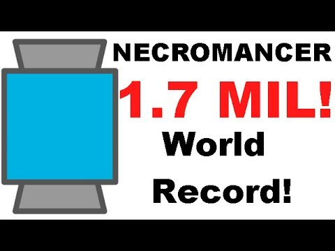 diep.io WORLD RECORD. necromancer 1.7 million, FFA