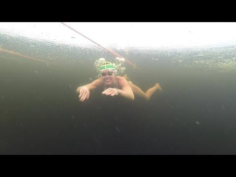 Amber Fillary Diving Under Ice - Päijänne on the Rocks 2017