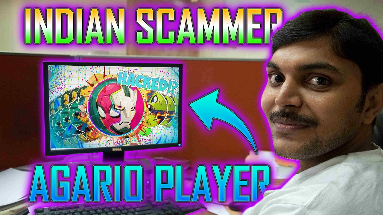 AGAR.IO vs INDIAN SCAMMER - ANGRY INDIAN TECH SUPPORT SCAMMER PLAYS AGAR.IO!!
