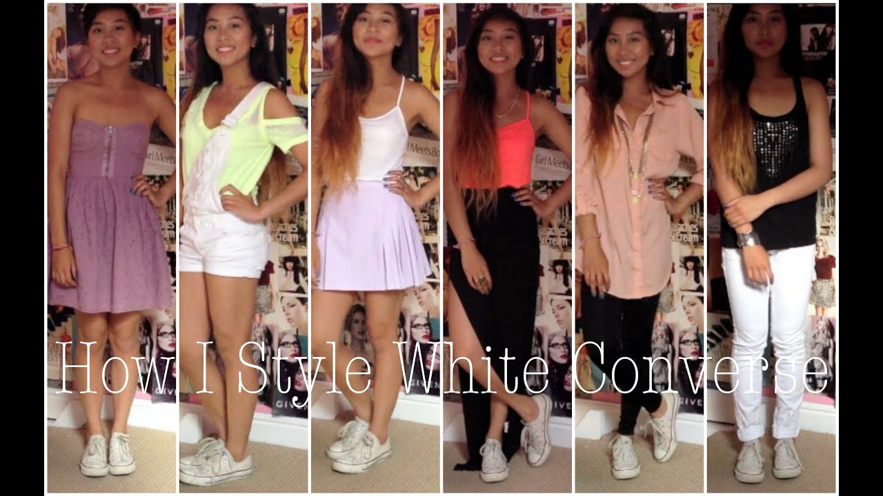 Style | How I Style White converse - YouTube