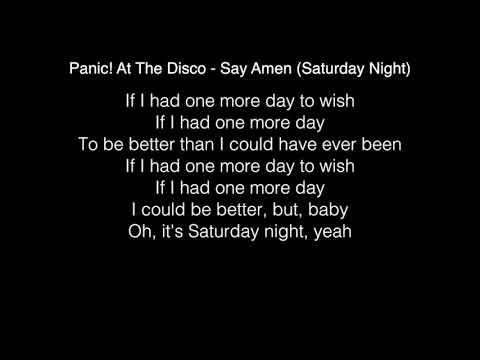 Panic! At The Disco - Say Amen Saturday Night Lyrics in the Live Lounge