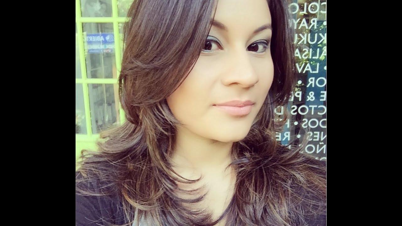 Corte de cabello en capas fotos