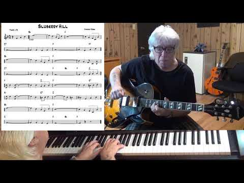 Blueberry Hill - Country guitar & piano cover ( Vincent Rose )