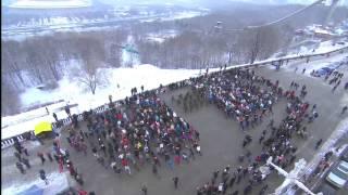 Флешмоб на Воробьёвых горах в Москве
