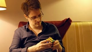 Watch Edward Snowden Solve a Rubik's Cube in a Minute