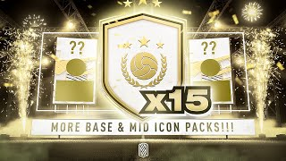 15 x BASE OR MID ICON PACKS!!!! FIFA 21