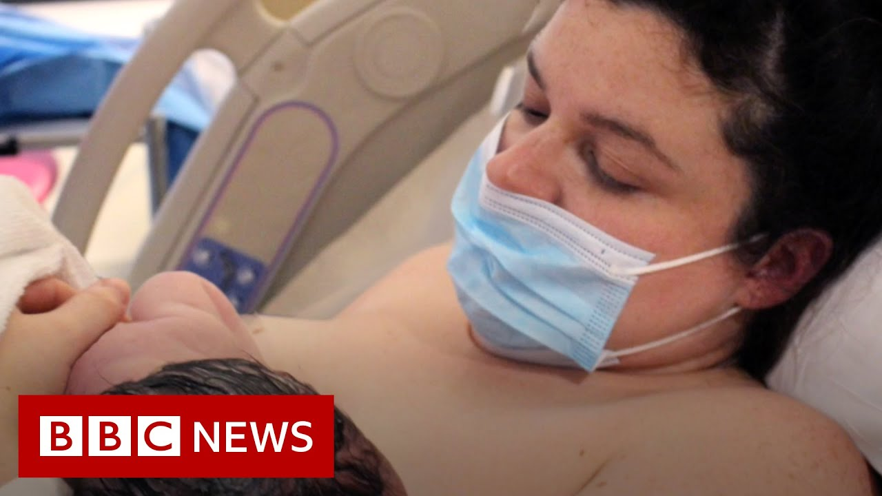 Mothers told to wear face masks during labour - BBC News