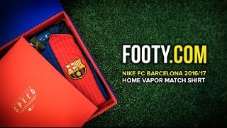 We were lucky enough to be sent the brand new nike and fc barcelona home vapor match shirt for 2016-17 season. it was presented so beautifully by we...