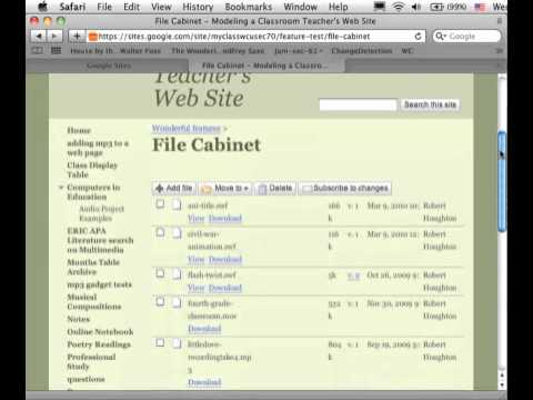 Adding mp3 files to Google Sites Web page