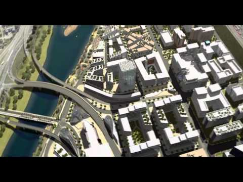 East Village Masterplan, Calgary AB - 3D Animation  |  RKA3D