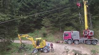 Gru a cavo - Cableway / Tower Yarder/Seilkran in Valsugana IT