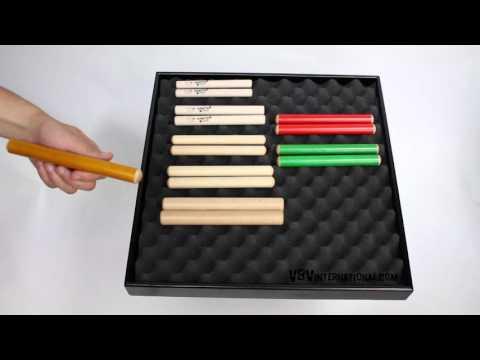 Claves Beech 20x2cm Yellow - 1+ video