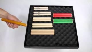 Claves Hêtre 20X2cm Jaune - 1+ vidéo