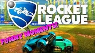 Rocket League Funny Moments #1 - Stream Highlights, Epic Save, Zentvngle Humping Me!