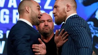 Philly native and lightweight champ Eddie Alvarez takes on the brash Irish featherweight champ Conor McGregor. Who do fellow fighters like in this one?
