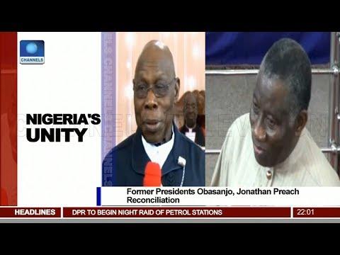 Former Presidents Obasanjo, Jonathan Preach Reconciliation Pt.1 |News@10| 18/02/18