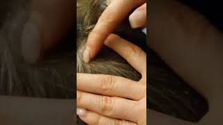Read description dandruff scalp scratching picking hair lice comb dad black shirt ASMR some talking