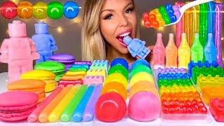 ASMR NIK-L-NIP WAX BALL, POPPING BOBA, LEGO MAN, WAX BOTTLE CANDY, RAINBOW FOOD, CANDY MUKBANG 먹방