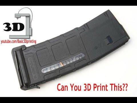 3D Printed AR-15 Magazine with the xyz printer da vinci