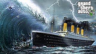 TITANIC VS TSUNAMI - WILL IT SINK?! GTA 5 END OF LOS SANTOS MOD