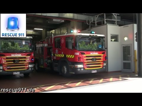3x Pumper 1B MFB Central Melbourne Fire Station
