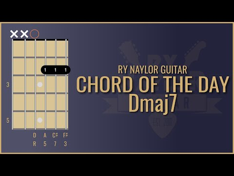 learn new guitar chords - dmaj7 / d major 7 / d major 7th guitar lesson