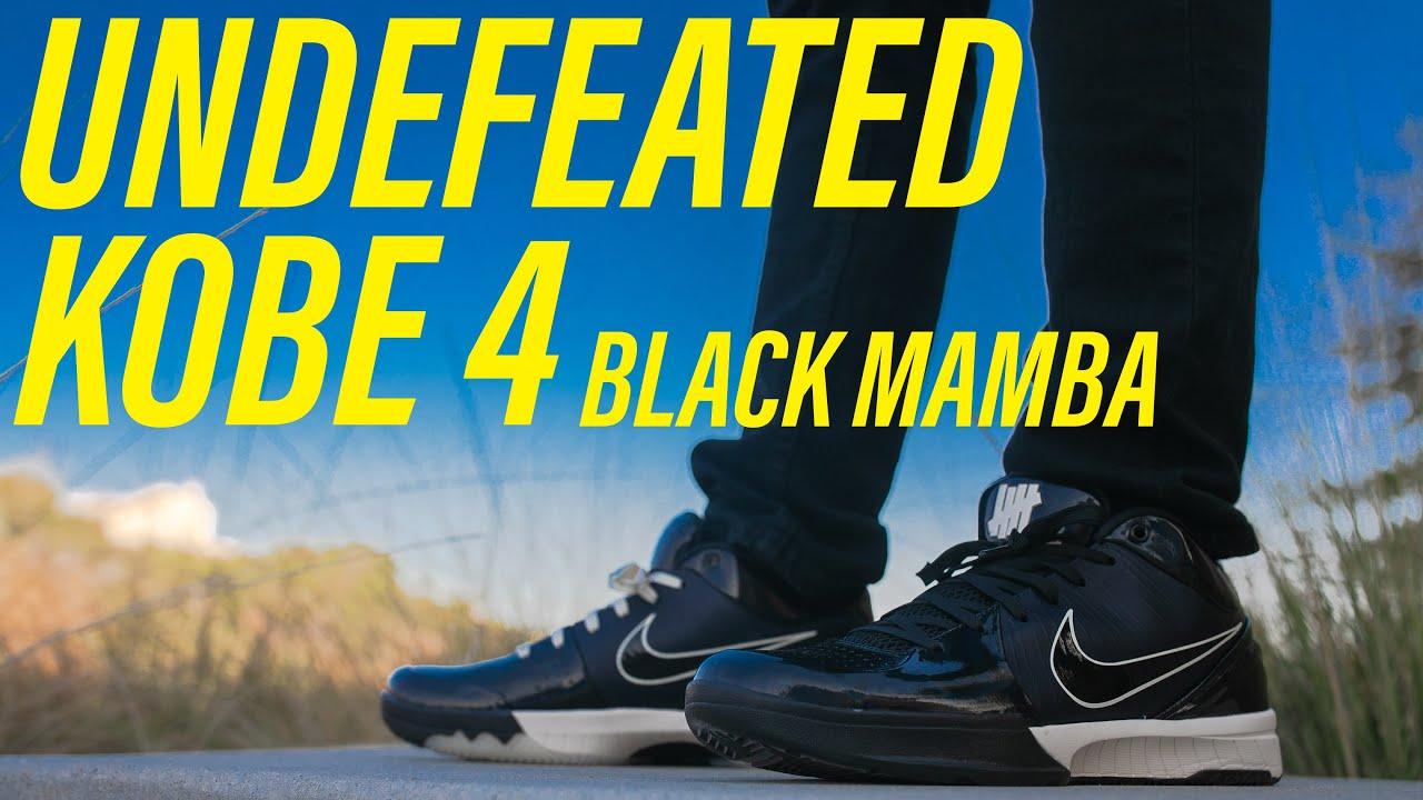 UNDEFEATED Kobe 4 Protro Black Mamba On