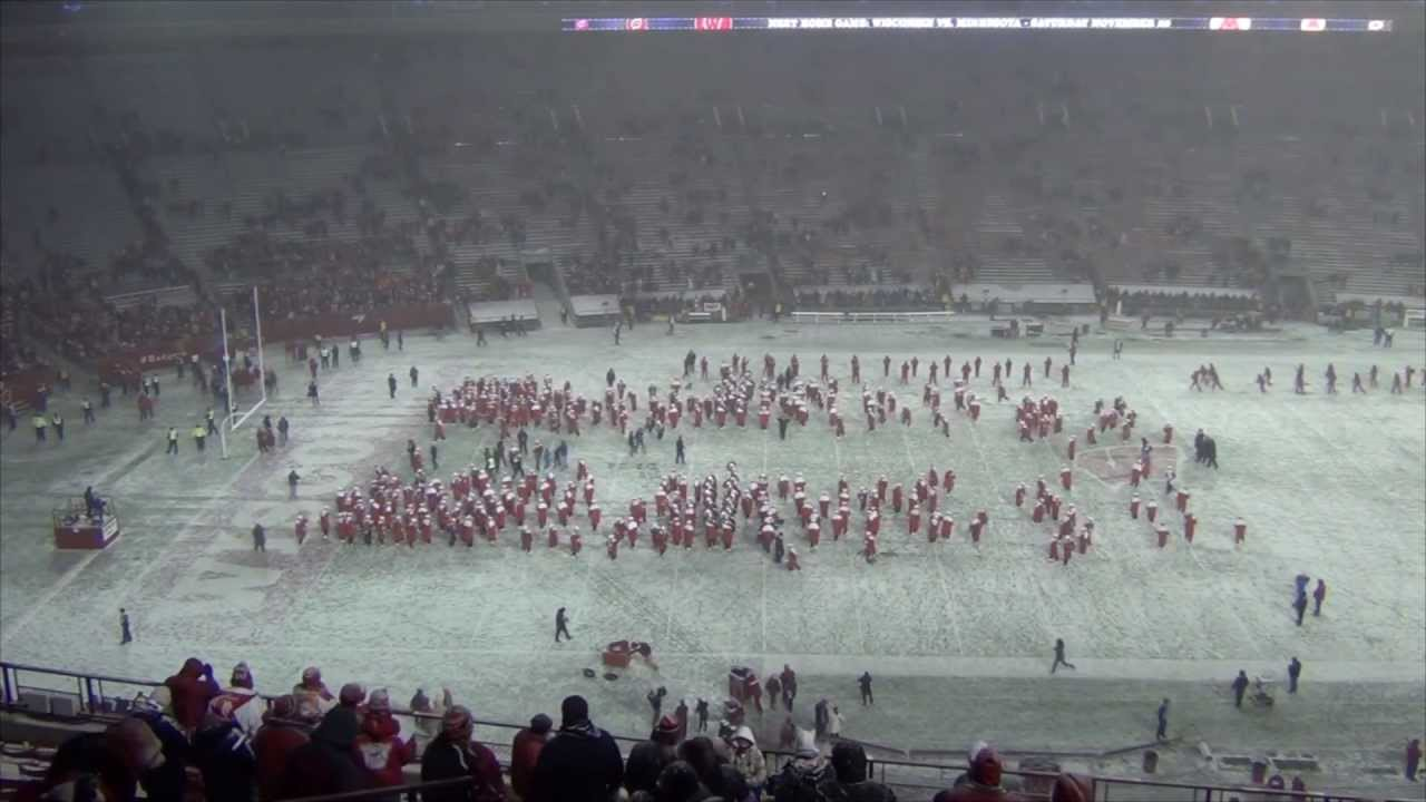 Badger Band 5th Quarter In The Snow 11 15 2014 Youtube