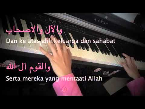 Syamail Muhammadiah~~UNIC~~ Piano Cover with Lyrics~~